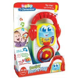 Clementoni baby Βρεφικό Παιχνίδι Deejay 1000-17112 8005125171125