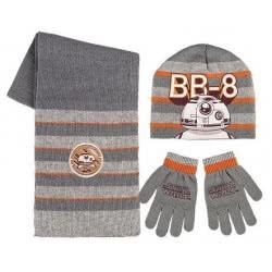 Loly Χειμωνιάτικο Σετ σκουφάκι, γάντια, κασκόλ Star Wars 02507 8427934826032