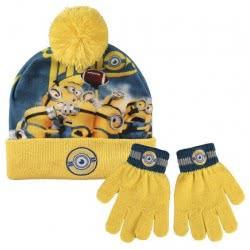 Loly Χειμωνιάτικο Σετ σκουφάκι, γάντια Minions 02517 8427934827961