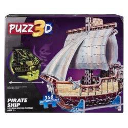 GIOCHI PREZIOSI 3D Παζλ Πειρατικό Πλοίο 358 Κομμάτια NT303000 8056379021735