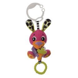 Playgro Peek-A-Boo Wiggling Bunny Κρεμαστό Παιχνιδάκι με Δόνηση 0m+ 0185471 9321104854728