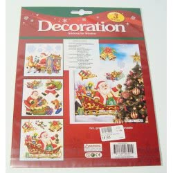 OEM Αυτοκόλλητα Χριστουγεννιάτικα διακοσμητικά Δ012 721129065014