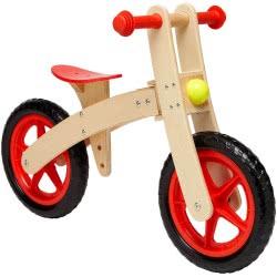 GLOBO Legnoland Ride-On Wooden Bicycle Free Wheel 35483 8014966354833