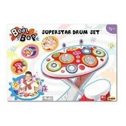 MG TOYS Beat Pop Super Star Drum Παιδικό Σετ Ντραμς 410095 5204275100952
