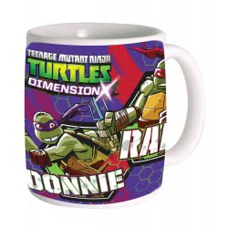 GIM Κούπα κεραμική απλή Χελωνονιντζάκια TMNT Teenage Mutant Ninja Turtles Purple 555-43101 5204549064157