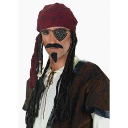 CLOWN Περούκα Caribbean Πειρατή Με Μπαντάνα 70510 5203359705106
