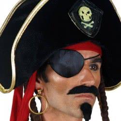 CLOWN Pirate black eye and earring 71093 5203359710933