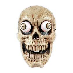 CLOWN Μάσκα Πλαστική Σκελετός Με Κίνηση Στα Μάτια 72194 5203359721946