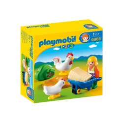 Playmobil Farmer's Wife with Hens 6965 4008789069658
