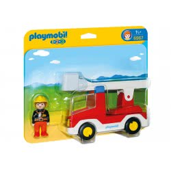 Playmobil Πυροσβέστης Με Κλιμακοφόρο Όχημα 6967 4008789069672