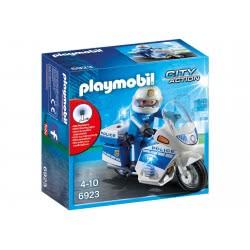 Playmobil Μοτοσικλέτα Αστυνομίας Με Φάρο Που Αναβοσβήνει 6923 4008789069238