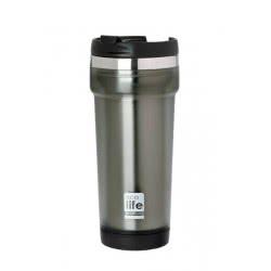 eco life COFFEE THERMOS MUG GREY 420Ml (Plastic Outside) 33-BO-4006 5208009001461
