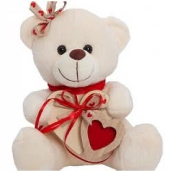 MUCH-TOYS Αρκουδάκι Berry 20Ek Κορίτσι Ξύλινες Καρδιές W2017 5206238201713