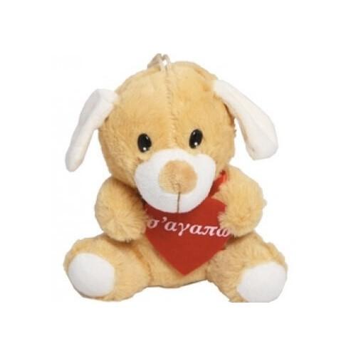 MUCH-TOYS Αρκουδάκι Τινκυ Σκύλος 15Εκ. Με Καρδιά W1508 5206238150813