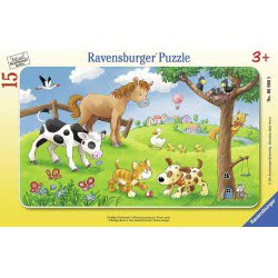 Ravensburger Παζλ Κορνίζα 15τεμ Τρυφερά ζωάκια 06066 4005556060665