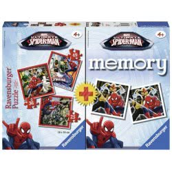 Ravensburger Memory And 3 Puzzle Spiderman 07359 4005556073597