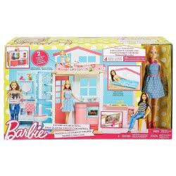 Mattel Barbie Νέο Σπιτάκι - Βαλιτσάκι Με Κούκλα DVV48 887961374988