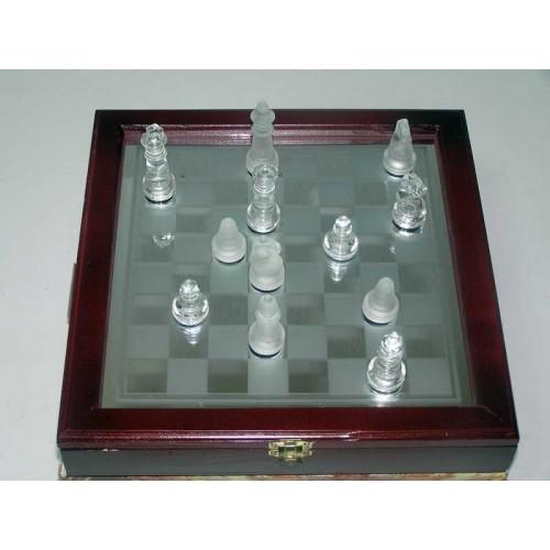 Argy Toys Σκάκι Γυάλινο σε ξύλινη κασετίνα 25x25 7343 6928932100015