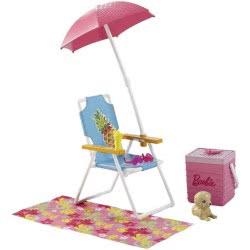 Mattel Barbie Έπιπλα Εξωτερικού Χώρου (3 Σχέδια) DXB69 887961392111