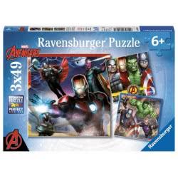 Ravensburger Παζλ 3 X 49 Πανίσχυροι 08017 4005556080175