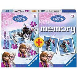 Ravensburger Memory And 3 Puzzle Ψυχρά και Ανάποδα 22311 4005556223114