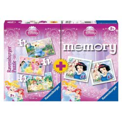 Ravensburger 4 σε 1 Memory and Puzzle Princess 07228 4005556072286