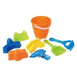 Toys-shop D.I Κουβαδάκι παραλίας σετ με νεροπίστολο Sandbeach Toys JQ009533 6990416095339
