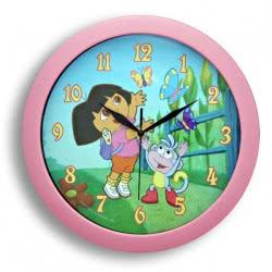 HOLLYTOON Ρολόι Τοίχου Dora Και Boots Ροζ Fd064104 5205125641045 5205125641045
