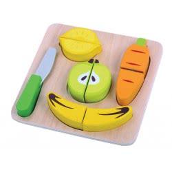 TOOKY TOY Ξύλινο Σετ Φρούτα - Λαχανικά TKA489 6970090044205