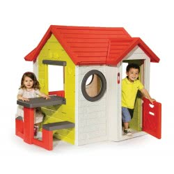 Smoby Σπιτάκι Κήπου My House Playhouse Με Τραπέζι 810401 3032168104013
