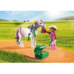 Playmobil Πόνυ με καρδούλες και κοριτσάκι 6969 4008789069696