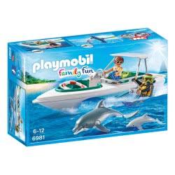 Playmobil Ταχύπλοο Με Δύτη Και Δελφίνια 6981 4008789069818