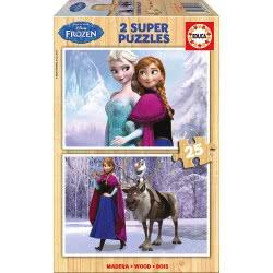 EDUCA Puzzle Ξύλινο Παζλ 2X25 Τεμάχια. Disney Frozen Π.016.162 8412668161627