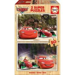 EDUCA Puzzle Ξύλινο Παζλ 2X50τεμ. Cars Π.016.372 8412668163720