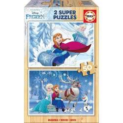 EDUCA Puzzle Ξύλινο 2X50 Τεμάχια. Disney Frozen Π.016.802 8412668168022