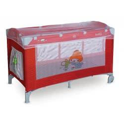 just baby Πτυσσόμενο Υφασμάτινο Κρεβάτι Χρωμα Κόκκινο - Γκρι JB-2080RG 5221275903574