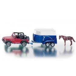 siku Jeep με trailer για άλογο SI001651 4006874016518