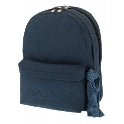 POLO Double Scarf Σακίδιο Πλάτης Jean Style, Μπλε (2018) 901235-93-00 5201927095611