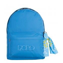 POLO Σακίδιο Πλάτης Double Scarf (P.R.C.) Χρώμα Γαλάζιο 901235-06-00 5201927092542