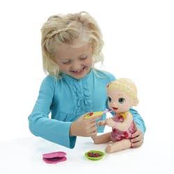Hasbro BABY ALIVE SUPER SNACKS SNACKIN LILY (BLONDE) C2697 5010993395538