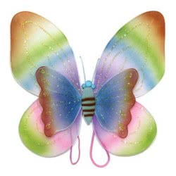 maskarata Φτερά Πεταλούδας Διπλά Σε Χρώμα Ουράνιου Τόξου ΖΗ883105 5200304410566