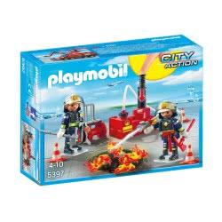 Playmobil Ομάδα Πυρόσβεσης Με Αντλία Νερού 5397 4008789053978