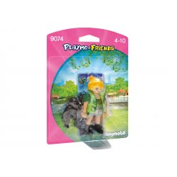 Playmobil Εκπαιδεύτρια ζώων με μικρό γορίλλα 9074 4008789090744