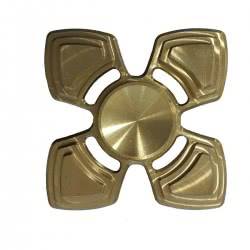 Diakakis imports Fidget Spinner Copper Gold Metalic Four Leaves 4 Minutes 000658218 9123456784520