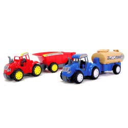DICKIE TOYS DICKIE Τρακτερ Με Καρότσα Farm Tractor Σε 3 Σχέδια 20 347 3036 4006333032257