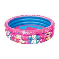 Bestway Barbie Children's 3-Ring Paddling Pool 122X30εκ. 93205 6942138934472