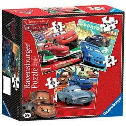 Ravensburger Παζλ 3 σε 1 WD Cars 2 05-07258 4005556072583