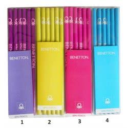 BENETTON Set Of 3 Pencils Classic - 4 Colours 35072 5201912350725