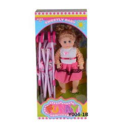 Toys-shop D.I Yingdi Toys 16Inc Doll With Iron Baby Cart And IC JH015355 6990317153558