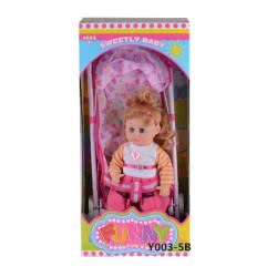 Toys-shop D.I Yingdi Toys 16Inc Doll With Iron Baby Cart And IC JH015359 6990317153596